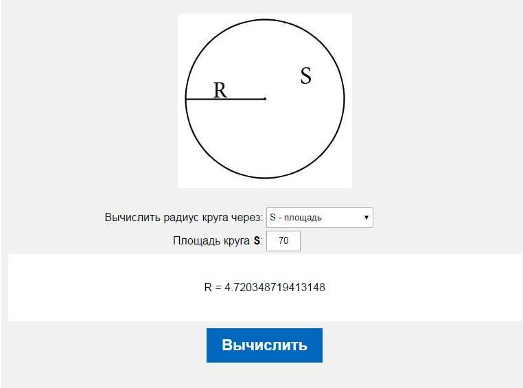 Площадь треугольника через радиус описанной окружности