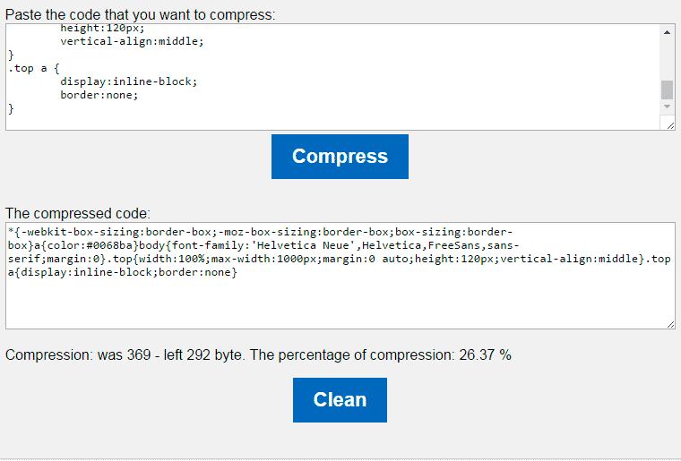 CSS Compressor online